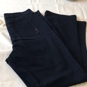 New dark wash denim jean